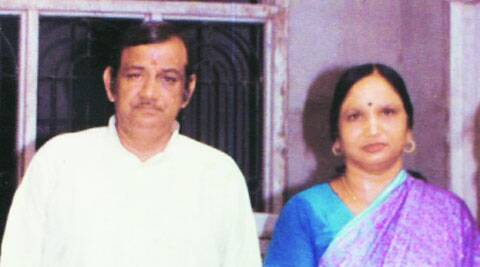 Suresh Goyal with wife Shimla Devi. ( Source: Express photo )