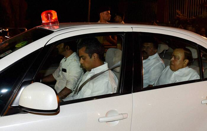 Party leaders, including Sonia Gandhi, have often expressed their appreciation of Singh during the UPA-I and UPA-II governments for having carved out a trajectory of clear inclusive growth, stability and social harmony in the country. <br /><br /> Congress leaders Murli Deora and Milind Deora leave after the farewell dinner. (PTI)