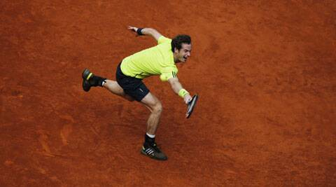 Andy Murray was overwhelmed 6-3 6-2 by Santiago Giraldo in the Madrid Open on Thursday. (Reuters)