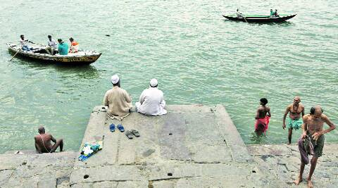 Muslims at the Ganga ghat in Varanasi. javed raja
