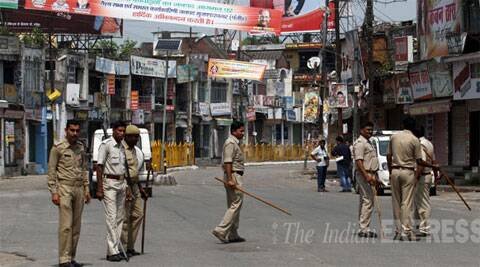 The police said that tension prevailed in the village after an irate mob lynched the four accused and security has been tightened in the area. (Photo: Express)