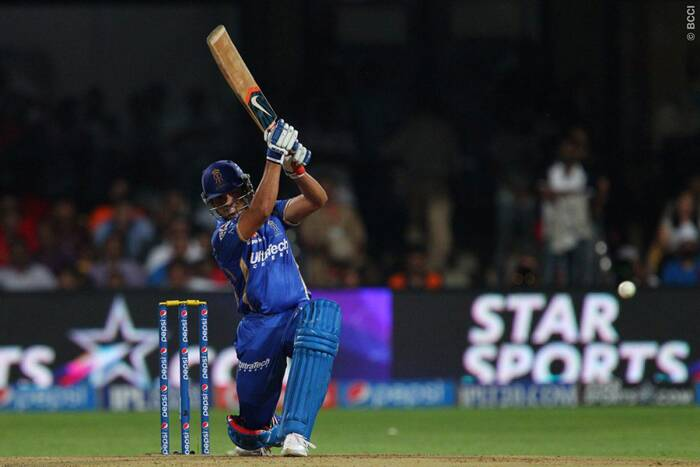 Karun Nair held on to one end as wickets kept falling at the other. He laid the foundation for the chase with a well paced 56 from 39 including eight boundaries in his innings. (Photo: BCCI/IPL)