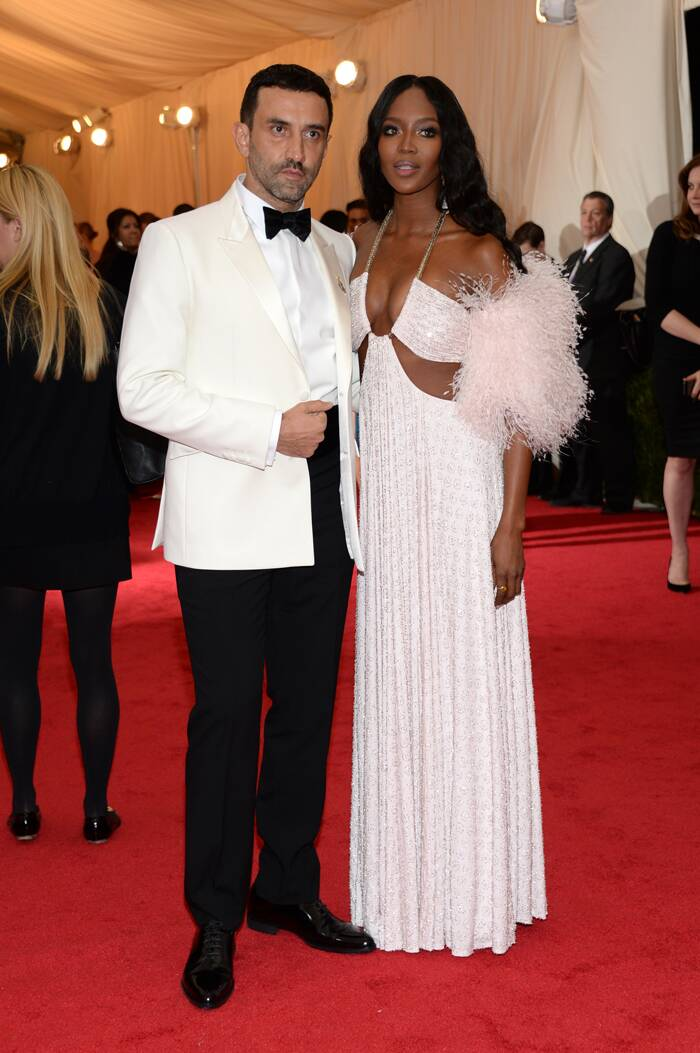 Supermodel Naomi Campbell left little to the imagination as she was accompanied to the event by Givenchy's creative director Riccardo Tisci. (AP)