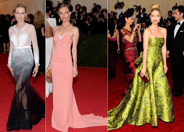 Actress Naomi Watts was elegant in a Givenchy Haute Couture gown, while Kate Bosworth picked a subtle Stella McCartney number. Ivanka Trump on the other hand was gorgeous in an Oscar de la Renta gown. (AP)