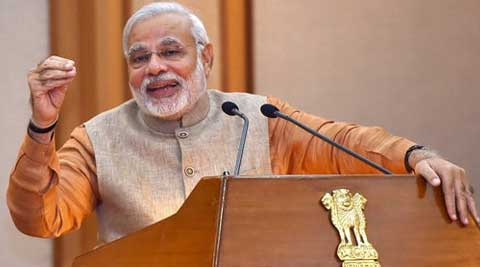 """The pro-Narendra Modi campaign is run on the plank of """"development"""", almost completely oblivious to the global debate around it."""