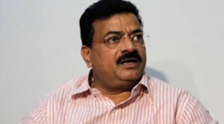 The lone Shiv Sena minister Anant Geete had to fall in line by taking charge of the Heavy Industries portfolio, said NCP president Bhaskar Jadhav.
