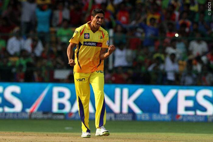Playing his second match of IPL 7, Ashish Nehra struck early for Chennai Super Kings, dismissing Rilee Rossouw in the first over of the match. Nehra finished with impressive figures of 3/33 from four overs. (Source: IPL/BCCI)