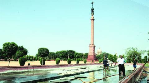 Sharma also has the contract to water the Mughal Gardens, and does the odd electrical jobs