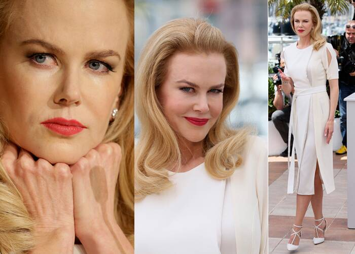 Australian beauty Nicole Kidman looked way beyond her years when she attended a film festival with pancake make up.