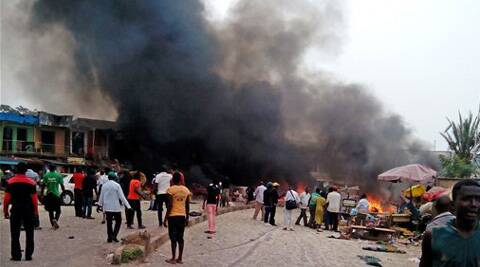 Two explosions ripped through a bustling bus terminal and market frequented by thousands of people in Nigeria's central city of Jos. (AP)
