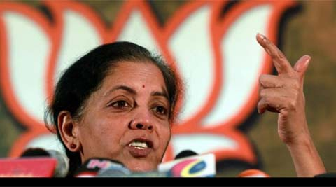 Sitharaman said FDI in multi-brand retail trade (MBRT) will adversely impact the small traders and farmers. Source: PTI