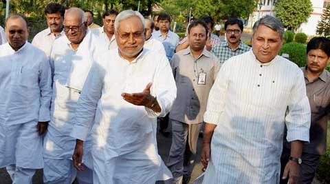 "Nitish Kumar had resigned as Bihar CM on Saturday, taking ""moral responsibility"" for his party's disastrous performance. (PTI)"