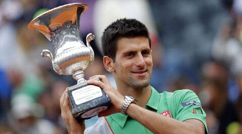 Novak Djokovic beat Rafael Nadal for the fourth time in a row and claim his third Italian Open title with an impressive 4-6 6-3 6-3 victory in Rome on Sunday. (Reuters)