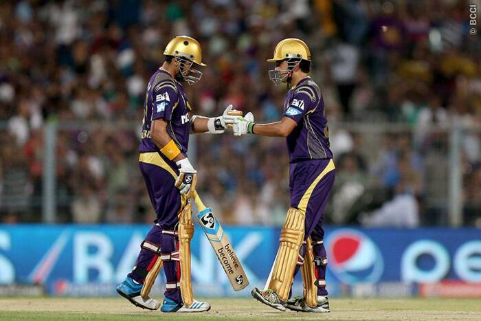 Chasing a total of 161, Kolkata was again off to a flying start as Gautam Gambhir and Robin Uthappa shared a 43-run stand in 4.4 overs. Kolkata needed to chase the total in 15.2 overs to finish at number two spot in the points table. (Source: BCCI/IPL)