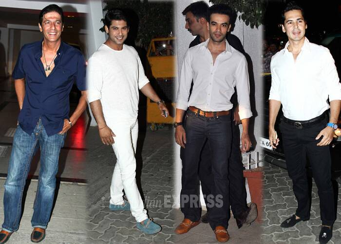 Chunky Pandey, Siddharth Shukla, Punit Malhotra and Dino Morea also made it to the party. (Source: Varinder Chawla)