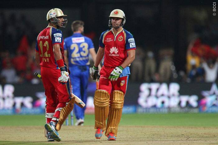 Bangalore finished with 190/5, thanks to Yuvraj Singh and Ab de Villers for their 132-run partnership. (Photo: BCCI/IPL)