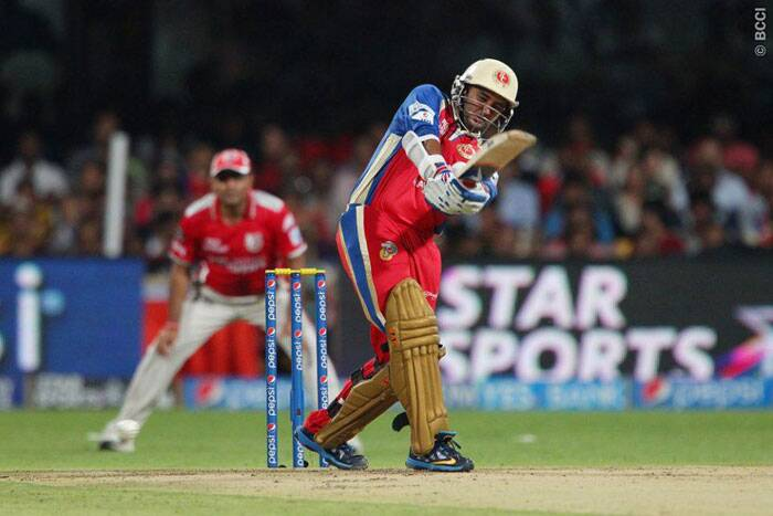 Royal Challengers Bangalore opener Parthiv Patel struggled at the crease during their run-chase against Kings XI Punjab. Patel could only score 13 runs off 14 balls. (Photo: IPL/BCCI)