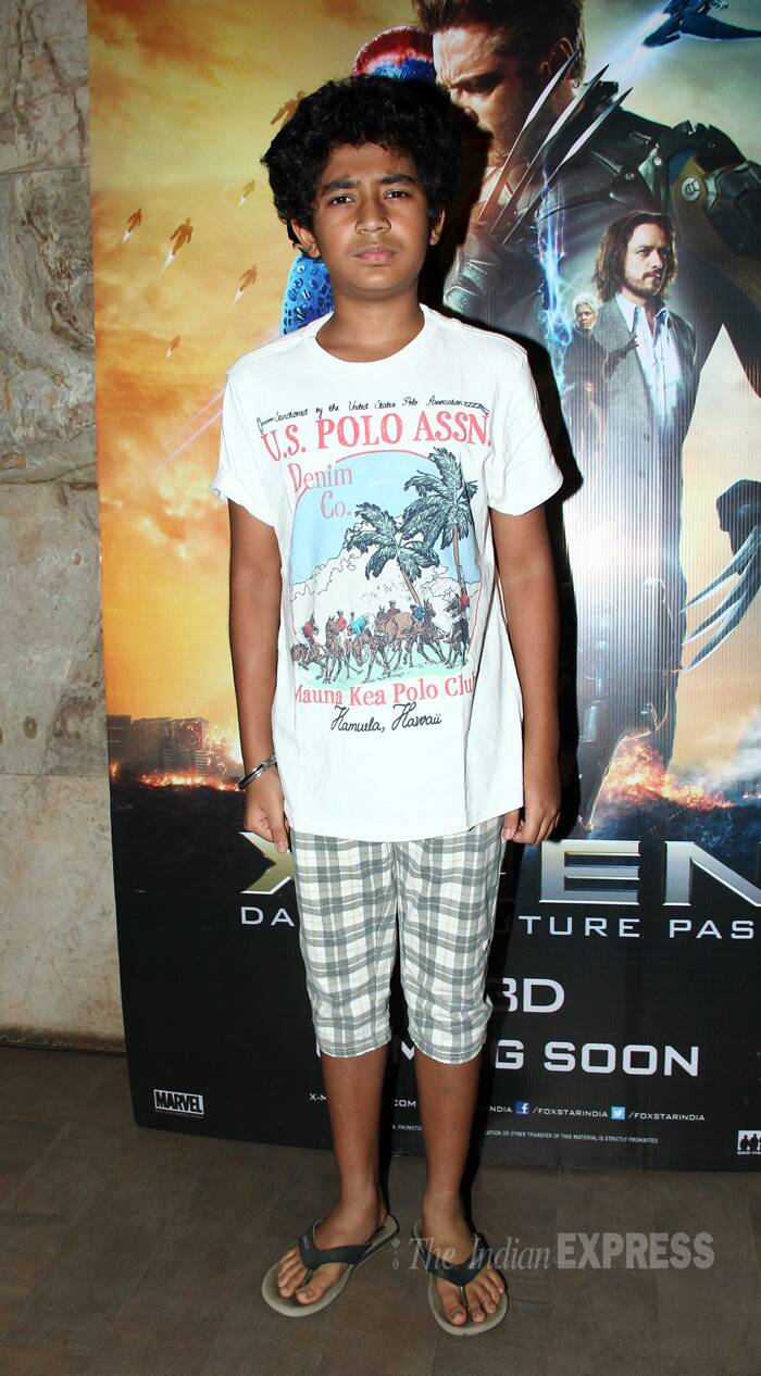 'Hawaa Hawaai' child actor Partho Gupte doesn't look too happy posing for the photogs. (Source: Varinder Chawla)