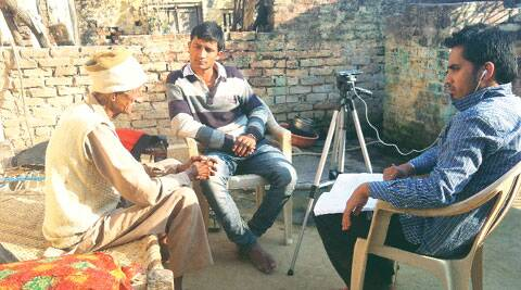Partition Archive's Prakhar Joshi records a story of a Partition victim
