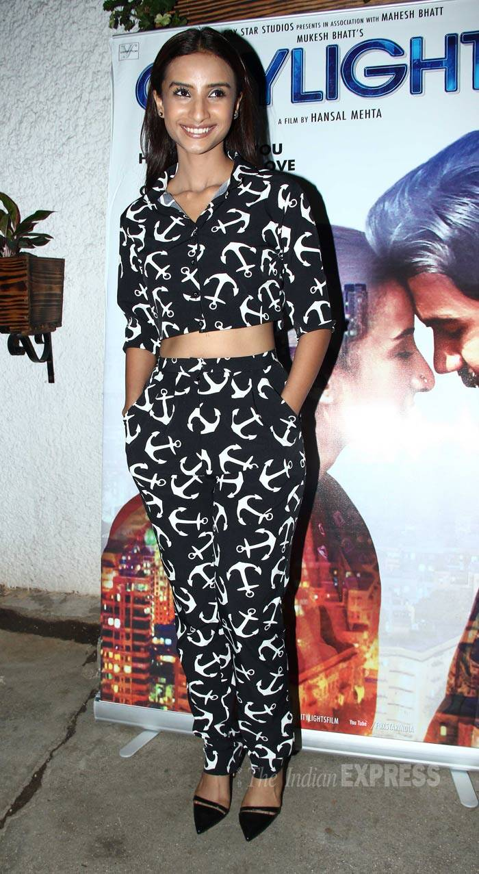 'CityLights' lead actress Patralekha was sassy in monochrome Nishka Lulla separates. (Source: Varinder Chawla)