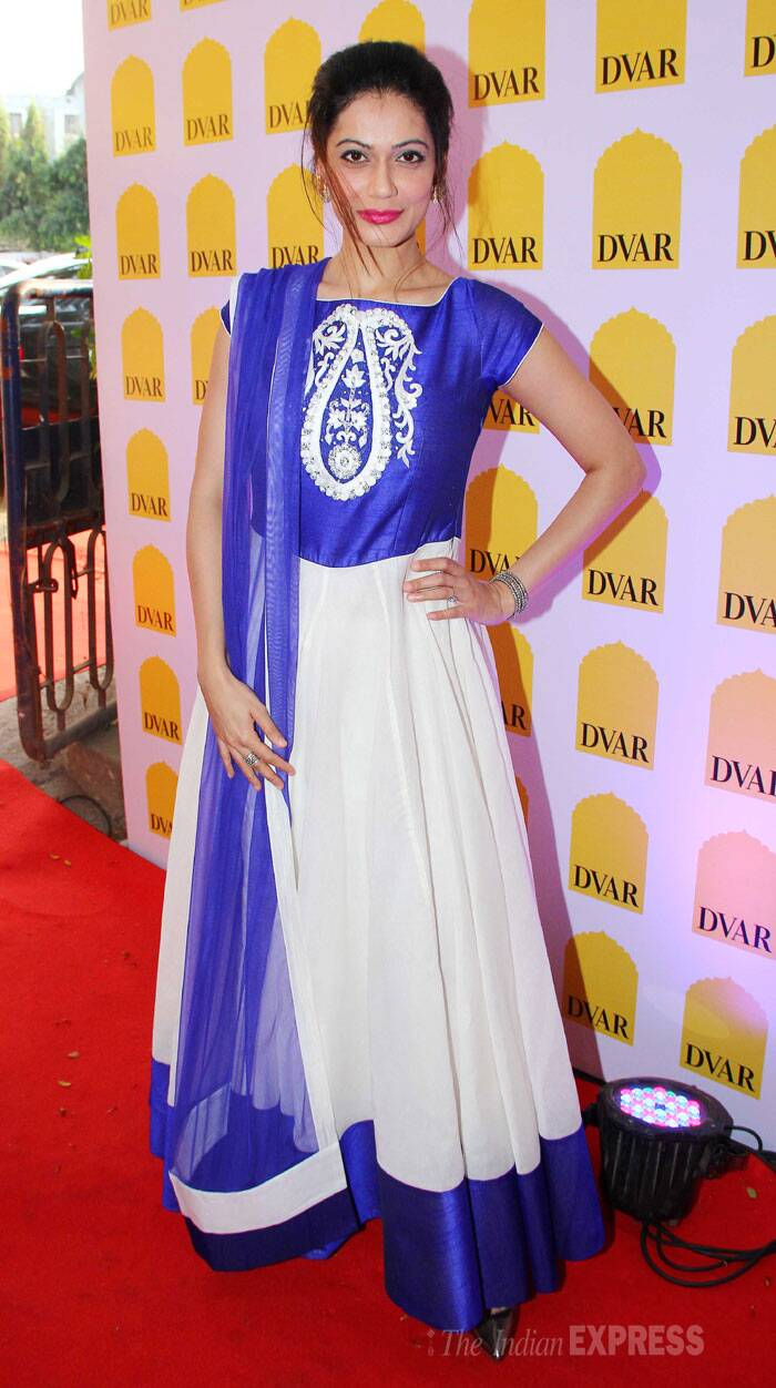 Payal Rohatgi went ethnic in a blue and white anarkali. (Photo: Varinder Chawla)