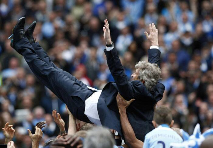 For Chilean Pellegrini, the first non-European manager to win the Premier League, it was a first league title since he won the Clausura with River Plate in Argentina in 2003 and a maiden success on this continent (Reuters)