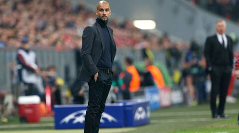 Guardiola's tactics have drawn scrutiny after Real Madrid outfoxed Bayern in the Champions League semifinals. (AP)