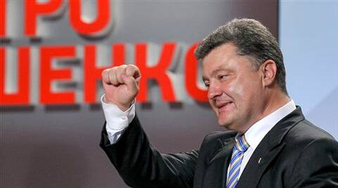 Candy tycoon Poroshenko wins Ukraine's presidential election in the 1st round. (Source: AP Photo)