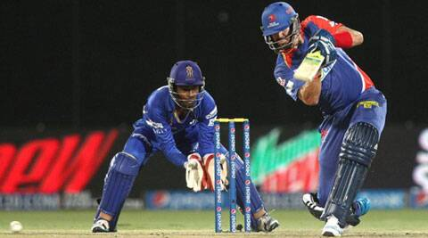 Kevin Pietersen reckoned that the track got slower with passage of time (Photo: BCCI/IPL)