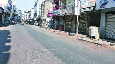 A bandh called by TRS in Hyderabad, Thursday, to oppose the ordinance. (Source: PTI)