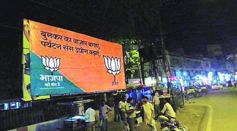 A new BJP poster in Varanasi. Ashutosh Bhardwaj