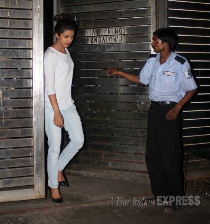 Songstress Priyanka Chopra was casually stylish in a white top with faded denims and black pumps. ( Source: Varinder Chawla )