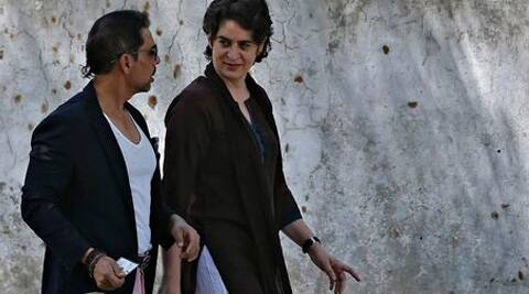 Priyanka Gandhi Vadra and her husband, Robert, after voting on 10 April at a polling station in New Delhi. ( Source: Reuters )