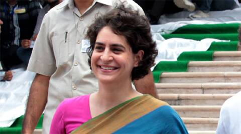 Priyanka Gandhi later visited the Swami Lakhsmanjoo Ashram along the banks of Dal Lake in Nishat area of the city.