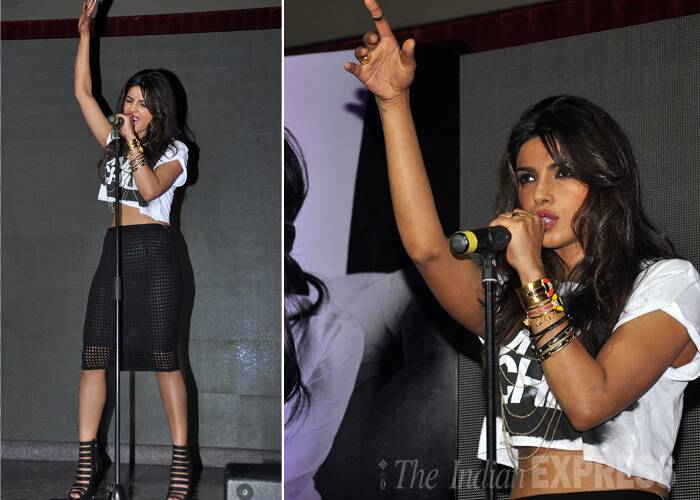 Priyanka Chopra performed her new hit single, 'I can't Make You Love Me' twice onstage at the event for her fans. (Photo: Varinder Chawla)