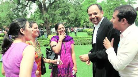 Parents outside the SC after Wednesday's verdict