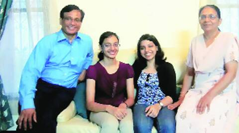 Priya Nair (in maroon top) with her family.