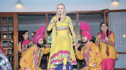 Anita Lerche learnt Punjabi music in Hoshiarpur.
