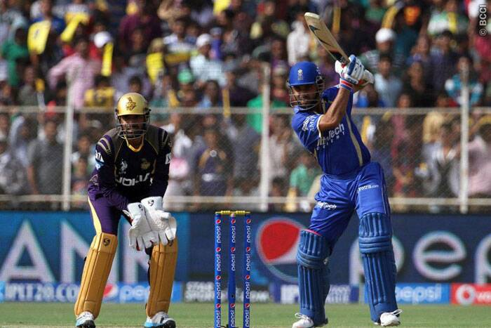 Ajinkya Rahane and Karun Nair gave Rajasthan a steady start with an opening stand of 52 runs. (Photo: BCCI/IPL)