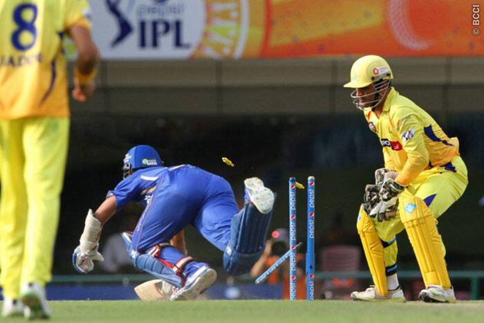 Rajasthan Royals batsman Ajinkya Rahane failed to deliver in the match against Chennai Super Kings. He was run-out cheaply by Brendan McCullum and Mahendra Singh Dhoni. (Photo: IPL/BCCI)
