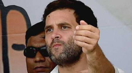 Rahul Gandhi hit out at the Modi government after he joined protesting MPs in well of the House.