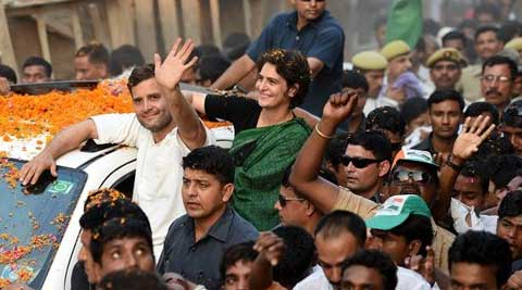 The eighth phase of polls saw Rahul's sister Priyanka's extensive campaign in Amethi. (PTI Photo)