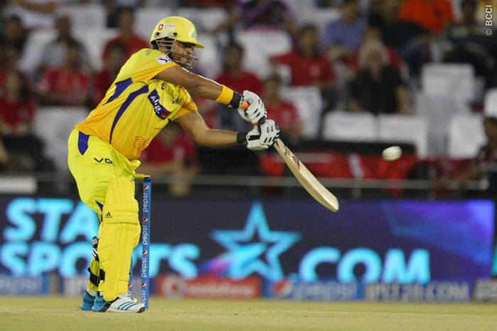 Suresh Raina did try to up the tempo for Chennai with his 27-ball 35 but the Punjab bowlers kept things tight till the very end. (Photo: BCCI/IPL)