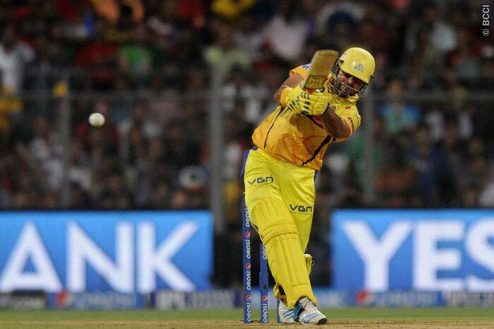 Chennai's most consistent batsman this season, the 27-year-old Suresh Raina almost stole the win from Kings XI Punjab's mouth with a whirlwind innings of 87 runs from just 25 balls. (Source: IPL/BCCI)