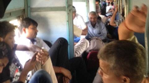 Inside the Rajendra Nagar Express.( Express phot by Avishek Dastidar )