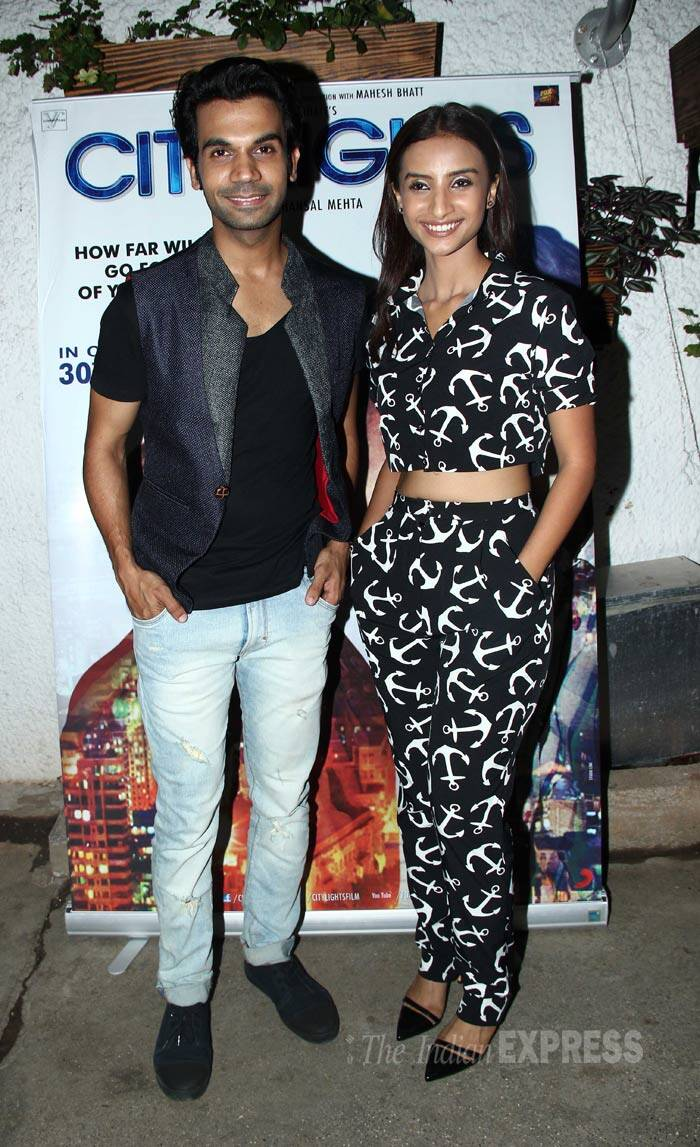 Rajkummar Rao and Patralekha, who play husband and wife in 'CityLights', are rumoured to be dating. (Source: Varinder Chawla)