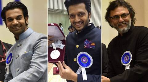 Pranab Mukherjee on May 3 gave away trophies to the winners of National Film Awards.