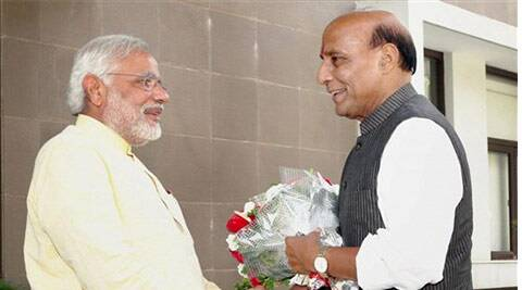 Rajnath said that Narendra Modi has the capability to lead the country. ( Source PTI )