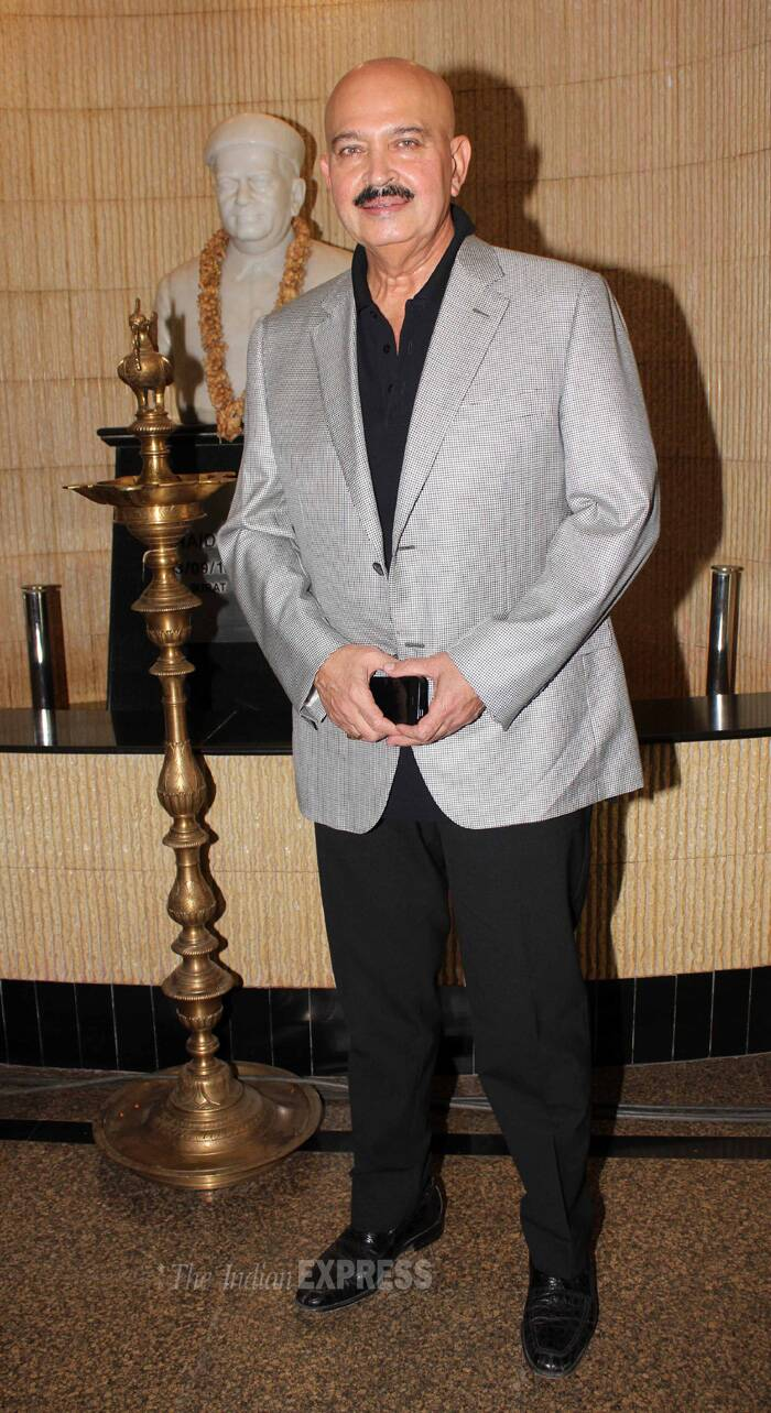 Director of 'Krrish' series, Rakesh Roshan was also present. (IE Photo: Amit Chakravarty)