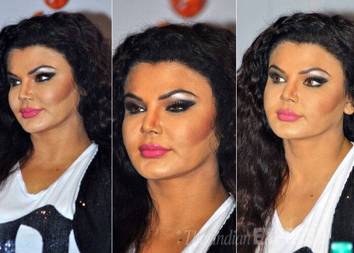 Controversial public figure Rakhi Sawant is always in news for all the wrong reasons. The actress recently managed to look absolutely horrifying at a recent event, thanks to her makeup. The make up powder was also visible and looked patchy. Her silver eye shadow with the bright pink lips and fake eyelashes, not to mention the brown lenses was all just too much. Nothing and absolutely no one would be able to salvage this disastrous look.